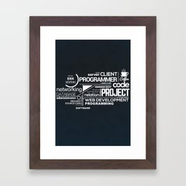Programmer: Typography Programming 2 Framed Art Print