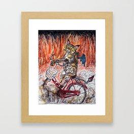 Hell on Wheels Framed Art Print
