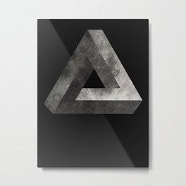 Penrose Triangle Moon Metal Print