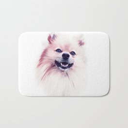 The Smiling Pomeranian Bath Mat