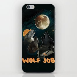 Wolf Job iPhone Skin
