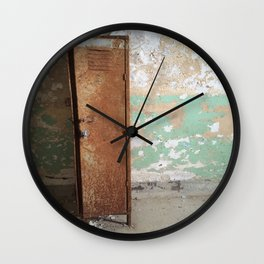 Old School Locker Wall Clock