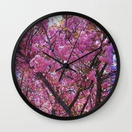 Dogwood Pink Purple Tones Wall Clock