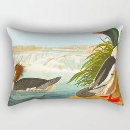 Goosander or Common Merganser Rectangular Pillow