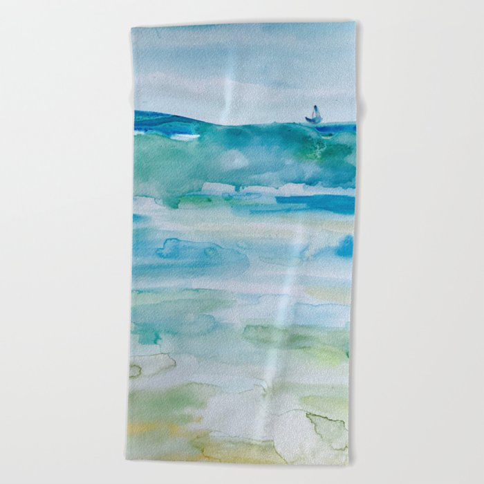 Miami Beach Watercolor 1 Towel