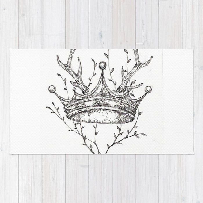 Crown and Stag Rug
