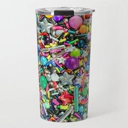 Rainbow Sprinkles - cupcake toppings galore Travel Mug