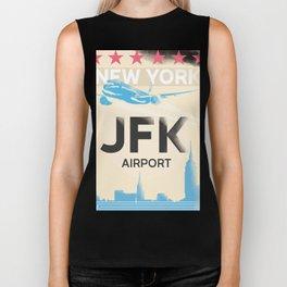 JFK stylish airport code Biker Tank