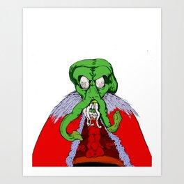 Merry Cthulumas - Father Cthulumas Art Print
