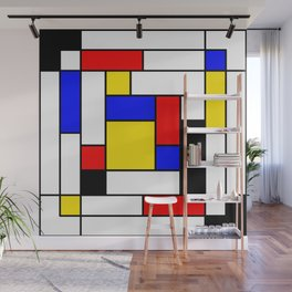 Mondrian Geometric Art 2 Wall Mural