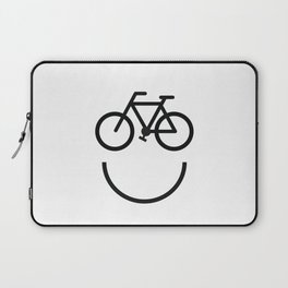 Bike face, bicycle smiley Laptop Sleeve