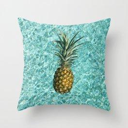 Pineapple Swimming Throw Pillow