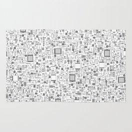 All Tech Line / Highly detailed computer circuit board pattern Rug