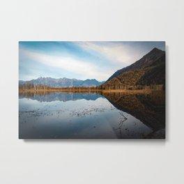 Autumnal Reflection Metal Print