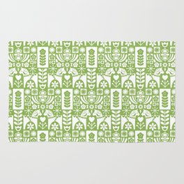 Swedish Folk Art - Greenery Rug