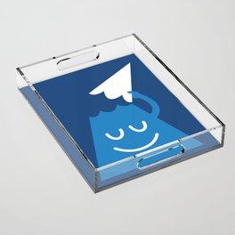 A Friendly Mountain Greeting Acrylic Tray