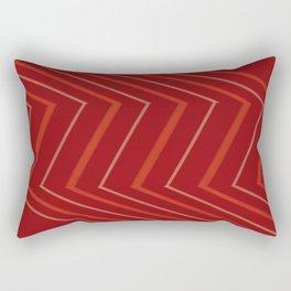 Energy in Red Rectangular Pillow