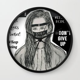 (13 Reasons Why - Stop Bullying) - yks by ofs珊 Wall Clock