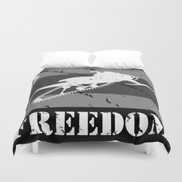 FREEDOM! Snowmobile Duvet Cover