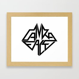 CamRaFace Logo White for T-Shirts Framed Art Print