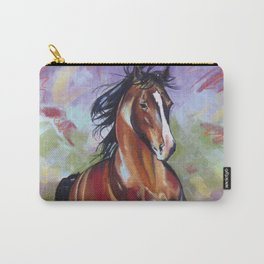 Contemporary Stallion Horse Painting Carry-All Pouch