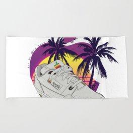 Apple vaporwave Beach Towel