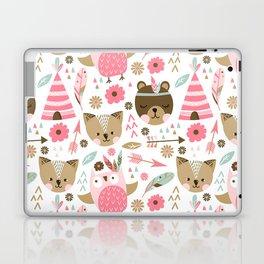 Pink Boho Animals Laptop & iPad Skin