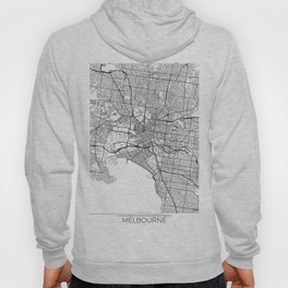 Melbourne Map White Hoody