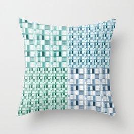 Sea-Cuadricula Throw Pillow