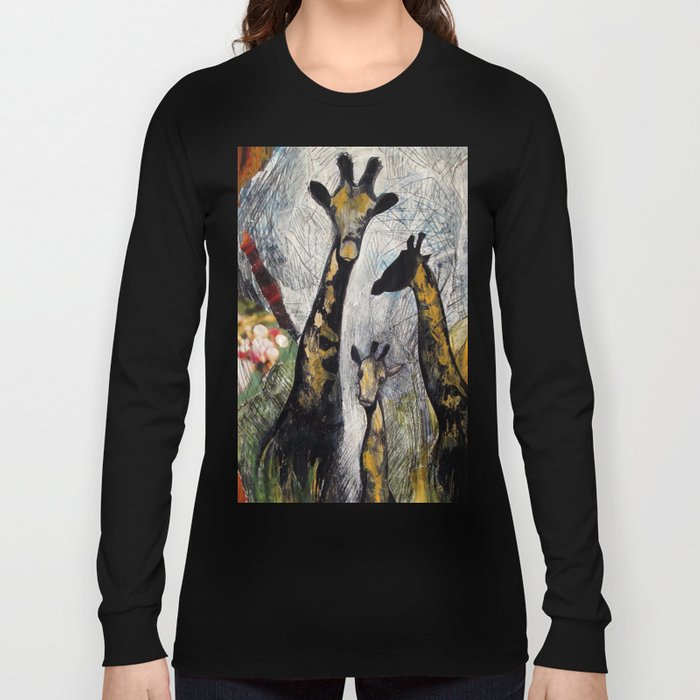 Collage with giraffes Long Sleeve T-shirt