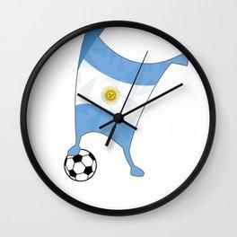 Argentina Flag Football Cup Soccer 2018 Dabbing World Wall Clock