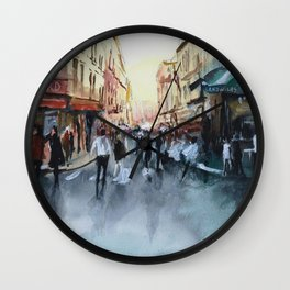 PARIS Street - Painting Wall Clock