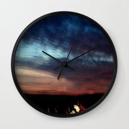 Night Lights Moving Sunset 30 Wall Clock