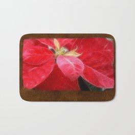 Mottled Red Poinsettia 2 Blank P3F0 Bath Mat