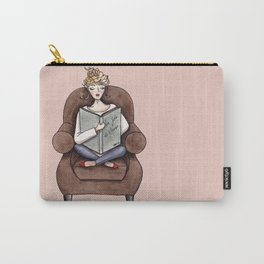Margaux Sunday Reading Watercolor Carry-All Pouch