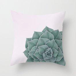 Big Green Echeveria Design Throw Pillow