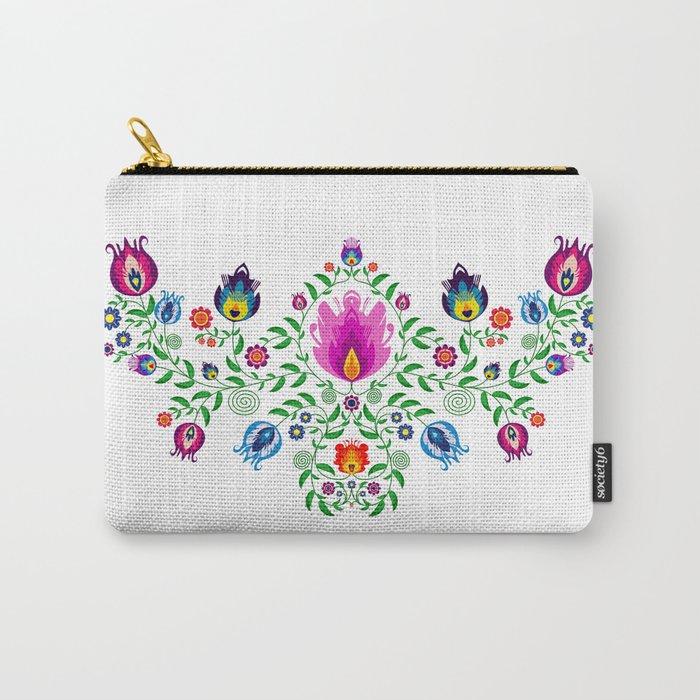 Folk Pattern #2 Carry-All Pouch
