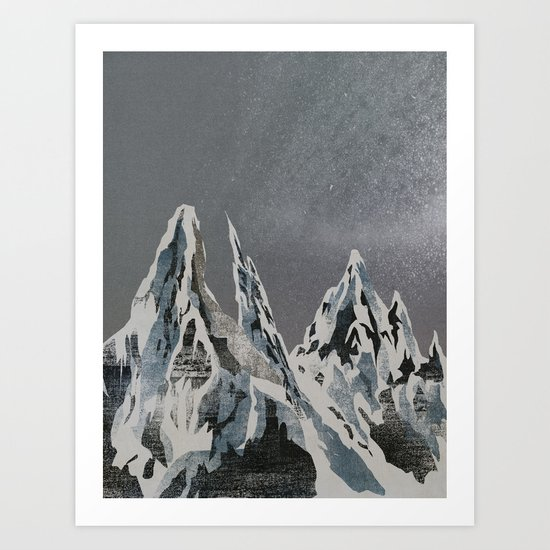 Mountains - Winter Sky Art Print