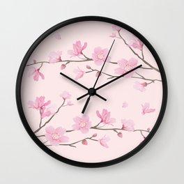 Cherry Blossom - Pink Wall Clock