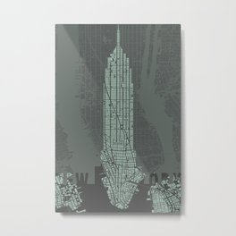 Empire State NY Metal Print