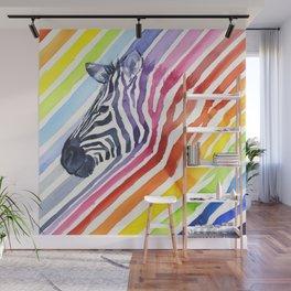 Animal Zebra Rainbow Wall Mural