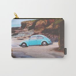 Vintage Blue Beetle Carry-All Pouch