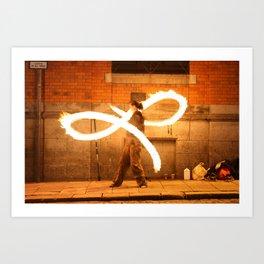 Fire Dancer Temple Bar Dublin Art Print