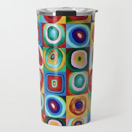 Colorful circles tile Travel Mug