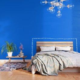 Brandeis Blue - solid color Wallpaper