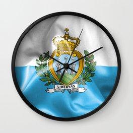 San Marino Flag Wall Clock
