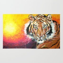 Awaiting the Darkness of Night (Male Tiger) Rug