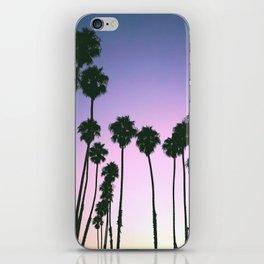 Palm Tree Purple Sunset iPhone Skin
