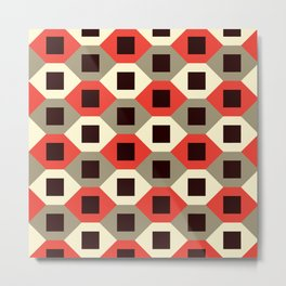 Geometric Pattern #66 (red hexagons) Metal Print