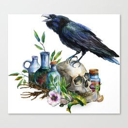Raven Magick Canvas Print